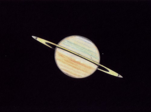 Solar eclipse on Saturn - Der. Johannes Schilling, Lonsee